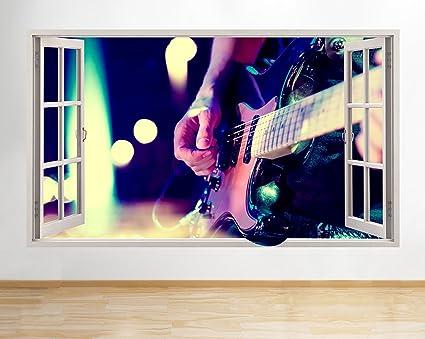 tekkdesigns C587 Guitarra eléctrica música Banda Ventana Adhesivo Pared 3D Arte Pegatinas Vinilo habitación