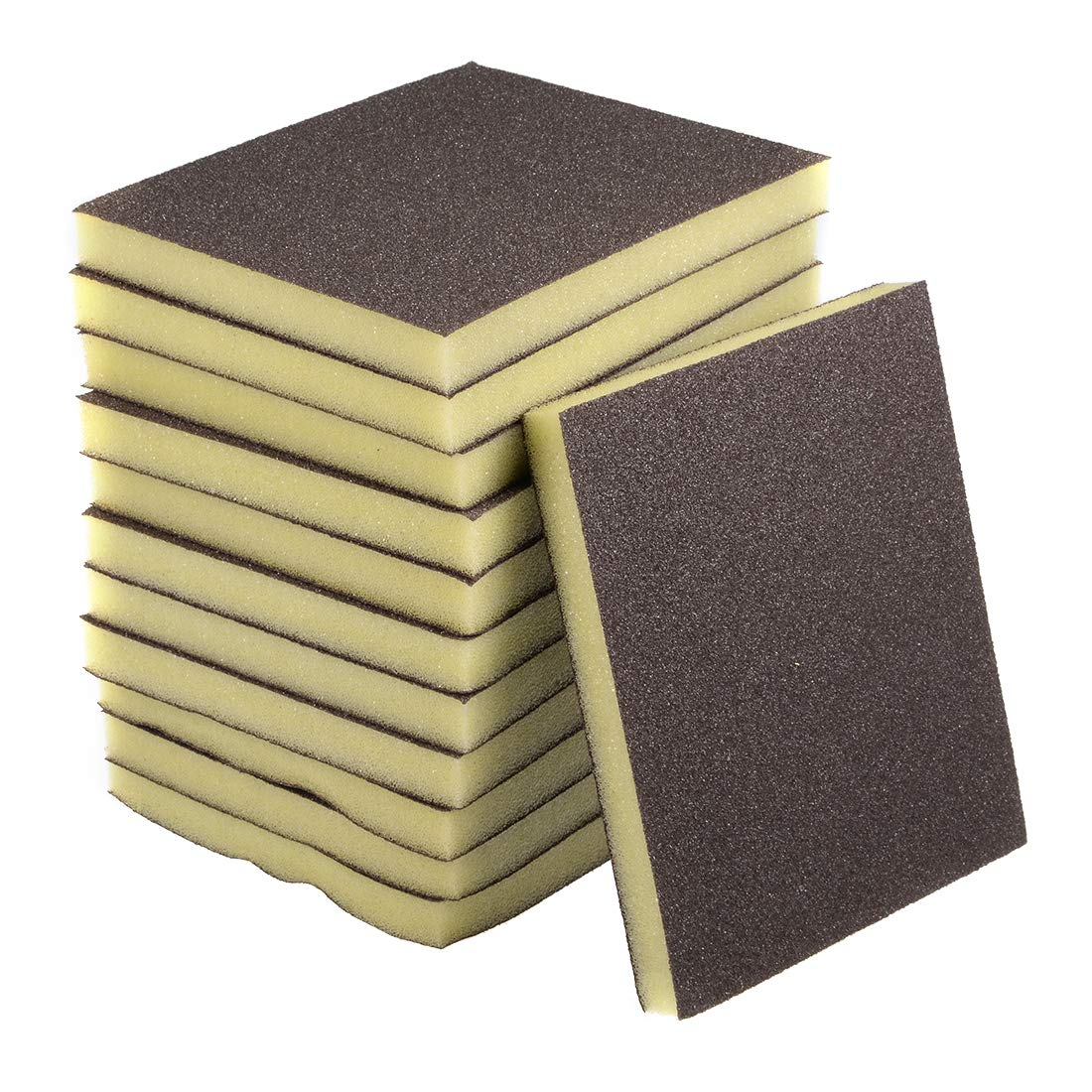 uxcell Sanding Sponge Sanding Blocks 80-Grits Coarse Grit Sand Block Pad for Kitchen Metal/Drywall/Wood 12pcs by uxcell