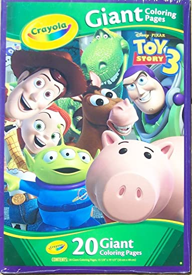 Buy Crayola Toy Story 3 Giant Coloring Pages 19 X 13 Online At