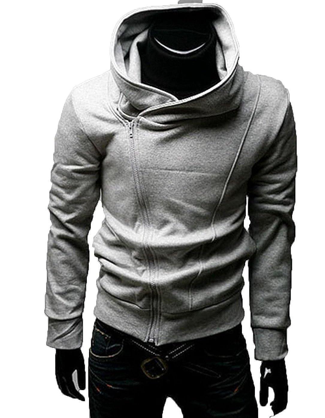 Hombre oblicuo con cremallera chaqueta de Cosplay disfraces ...