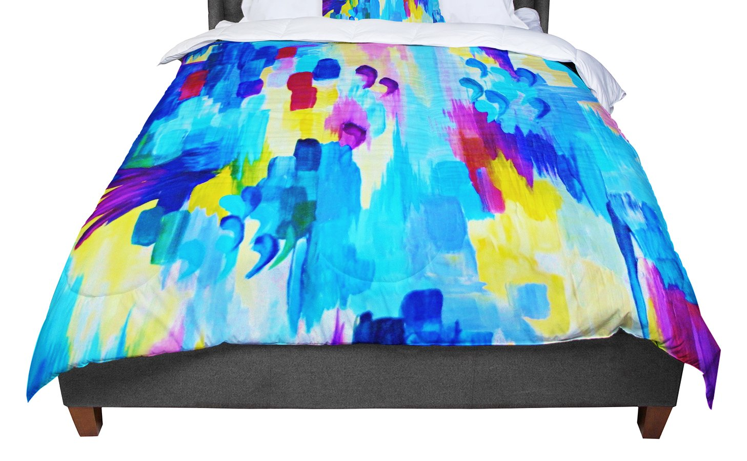 KESS InHouse Ebi Emporium 'Don't Quote Me, Revisited' Queen Comforter, 88' X 88'
