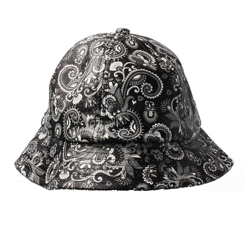 Accessoryo - Gorro de pescador - Sombrero del cubo - Paisley - para mujer  Negro blanco 6a422d1eeeb