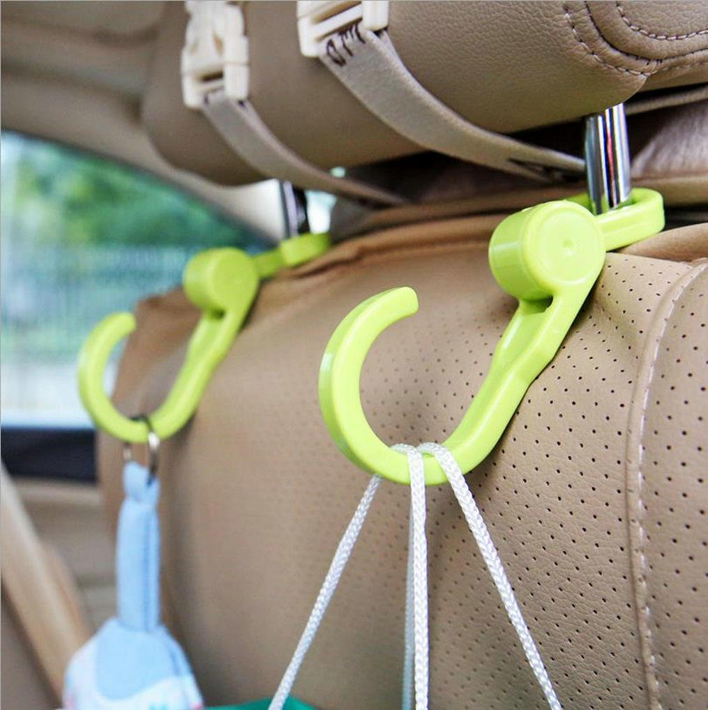 Amasawa Stroller hooks(4 pack)-perfect stroller accessory Mommy when Jogging, Walking or Shopping- Hanger for Baby Diaper Bags, Groceries, Clothing, Purse (46-two ends Hook)