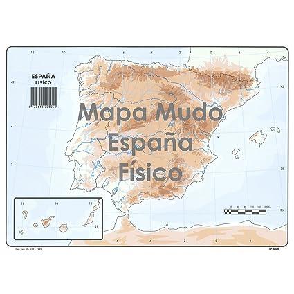 Mapa Mudo Politico De España Para Imprimir Tamaño Folio.Mapa Mudo Selvi Color Din A4 Espana Fisico Caja X50 Amazon