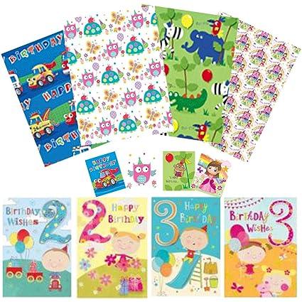 Papel de regalo, tarjetas de cumpleaños y etiquetas de ...