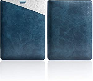 "WALNEW 13.5"" Sleeve for 13.5 Inch Microsoft Surface Laptop 1/2/3(2017 & 2018 & 2019 Released) Protective Soft Sleeve Case Cover Bag with Safe Interior and Exterior Mouse Pad, Dark Blue"
