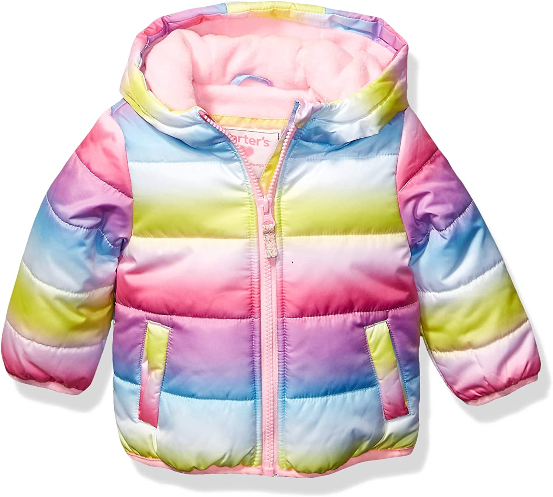 Carters baby-girls Fleece Lined Puffer Jacket Coat Jacket