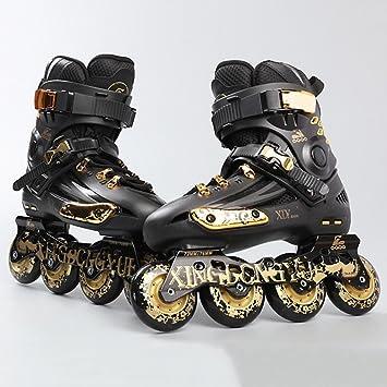 Sunkini Zapatos adultos de una sola línea de patinaje sobre ruedas Patines rectos en línea Zapatos