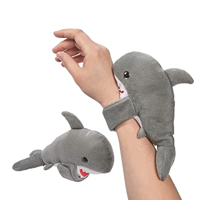 Fun Express Hugging Stuffed Shark Bracelets - Jewelry - 12 Pieces: Toys & Games
