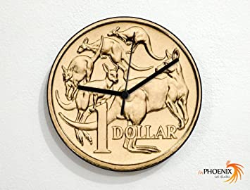 Amazonde Münzen 1 Australischer Dollar Wanduhr