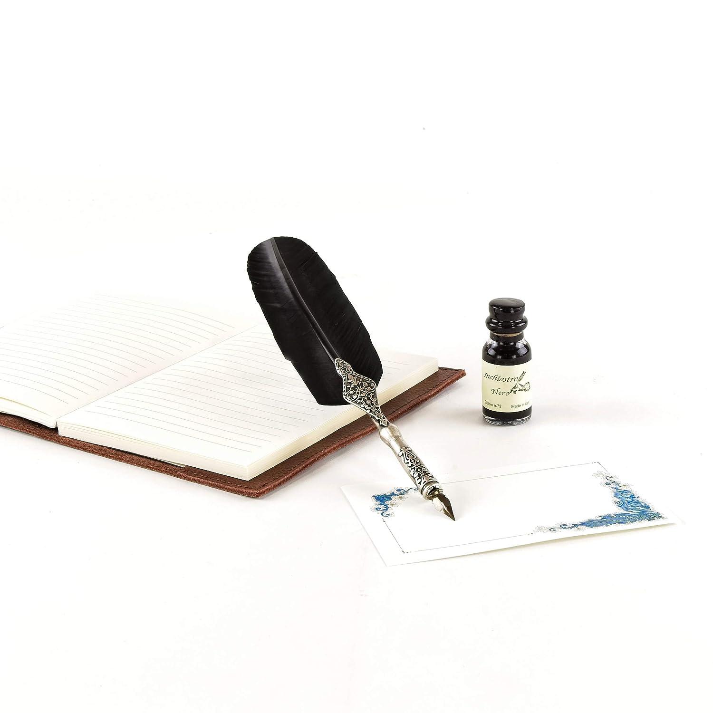 Babilonia Set Scrittura Penna DOca Nera Include Scatola Regalo Realizzato a mano da Artigiani Toscani