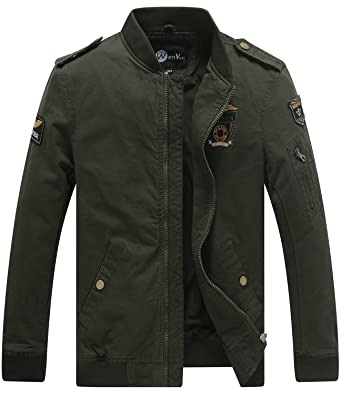 Mens green cotton jacket