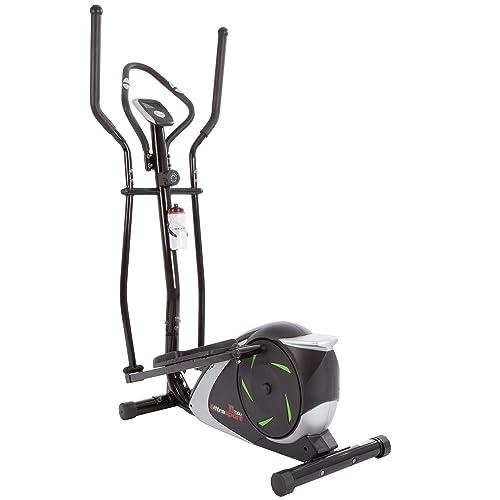 Ultrasport Vélo elliptique XT-Trainer avec capteurs de pouls tactiles et Bouteille