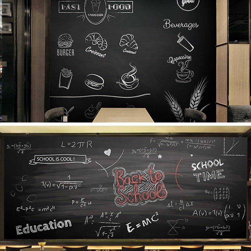 Papier Peint Tableau Noir 60 * 200cm EgoEra/® Amovible Rouleau Tableau Craie Adh/ésif//Ppapier Peint Tableaux Muraux//Autocollants Tableau//Tableau Noir Adh/ésif pour Accueil /École et Bureau