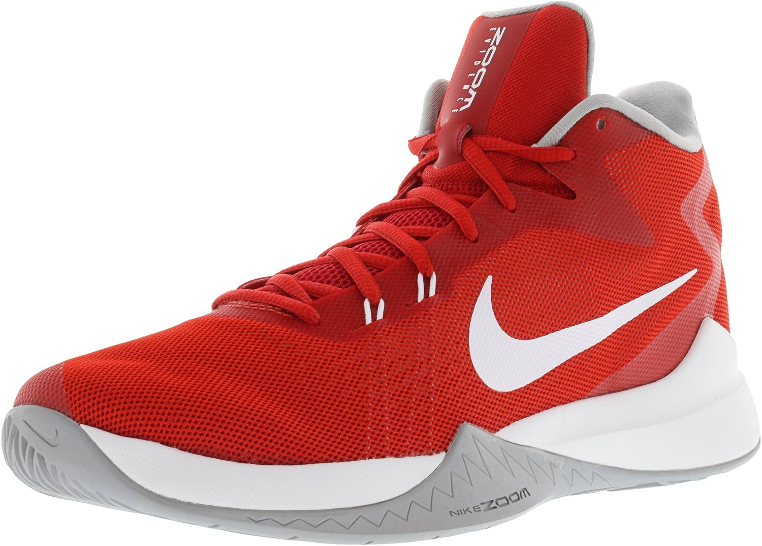 NIKE Men's Zoom Evidence Basketball Shoes B01MZ2804R 7.5 D(M) US|University Red/White/Wolf Grey