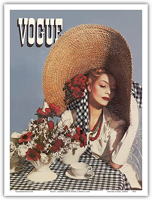 9in x 12in Horst c.1938 Vogue Vintage Magazine Cover by Horst P Master Art Print Summer 1938