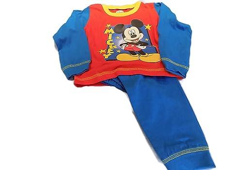 Los niños Disney Mickey Mouse pijama Red & Blue Talla:18-24 mth