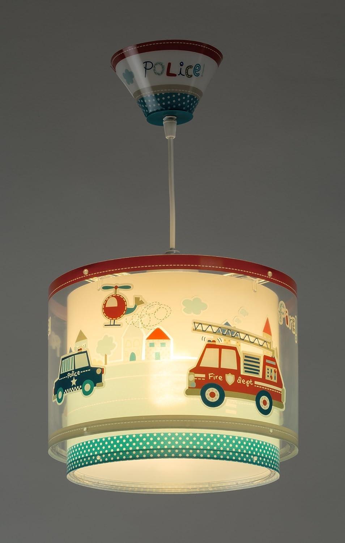 LED Lampe Kinderzimmer Decke Pendelleuchte Feuerwehr 60612 RGB-WW ...