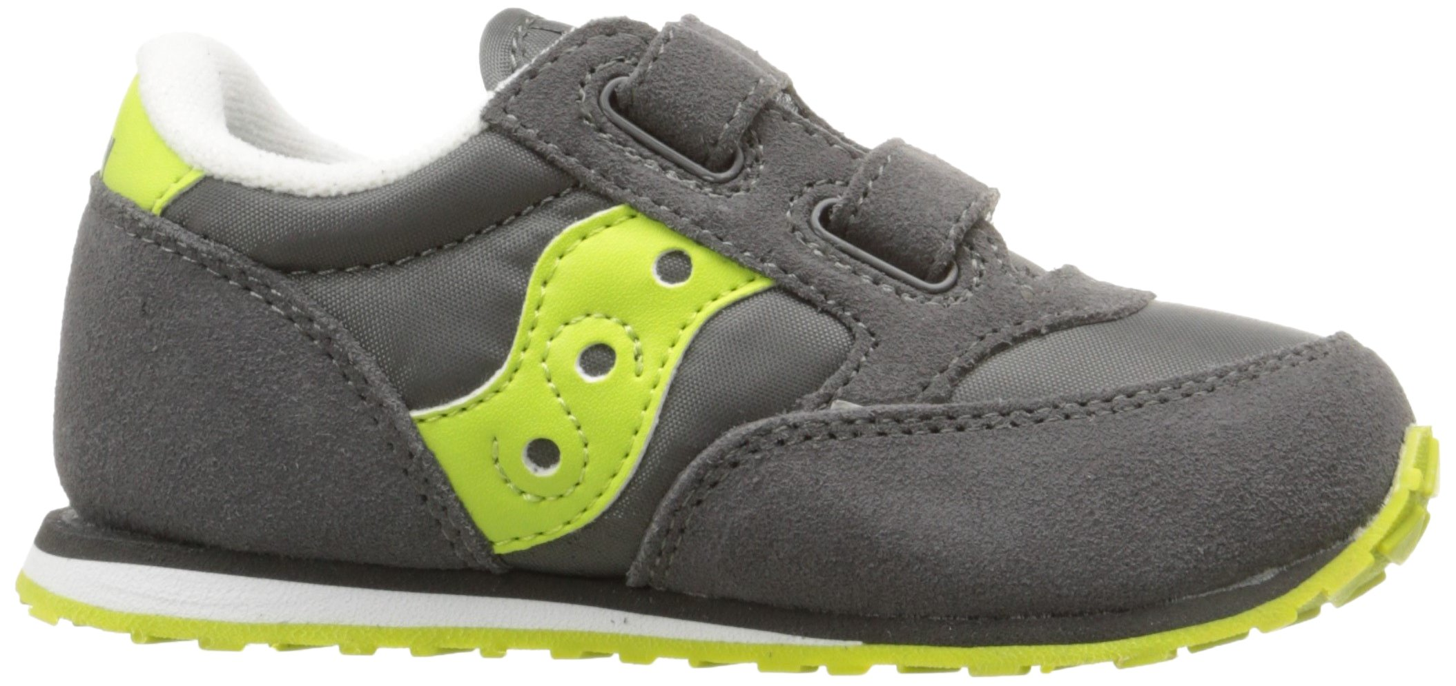 Saucony Jazz Hook & Loop Sneaker (Toddler/Little Kid), Grey/Citron, 9 M US Toddler by Saucony (Image #7)