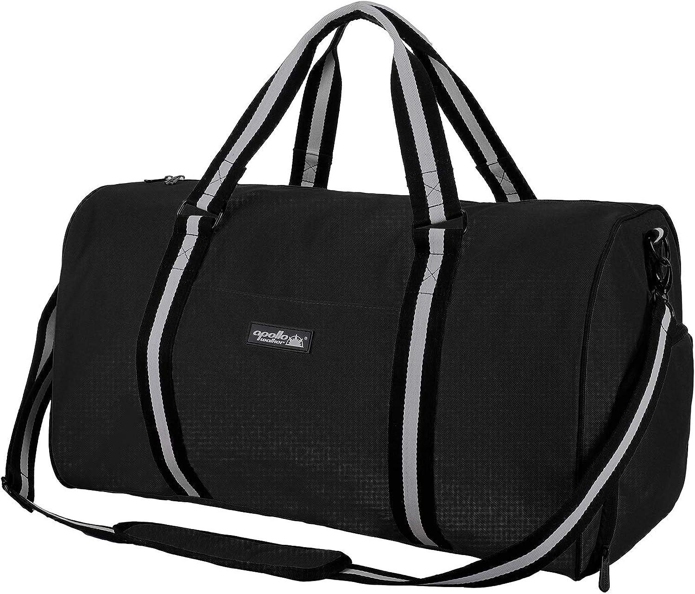 WIHVE Gym Duffel Bag Cartoon Funny Cats Flowers Sports Lightweight Canvas Travel Luggage Bag
