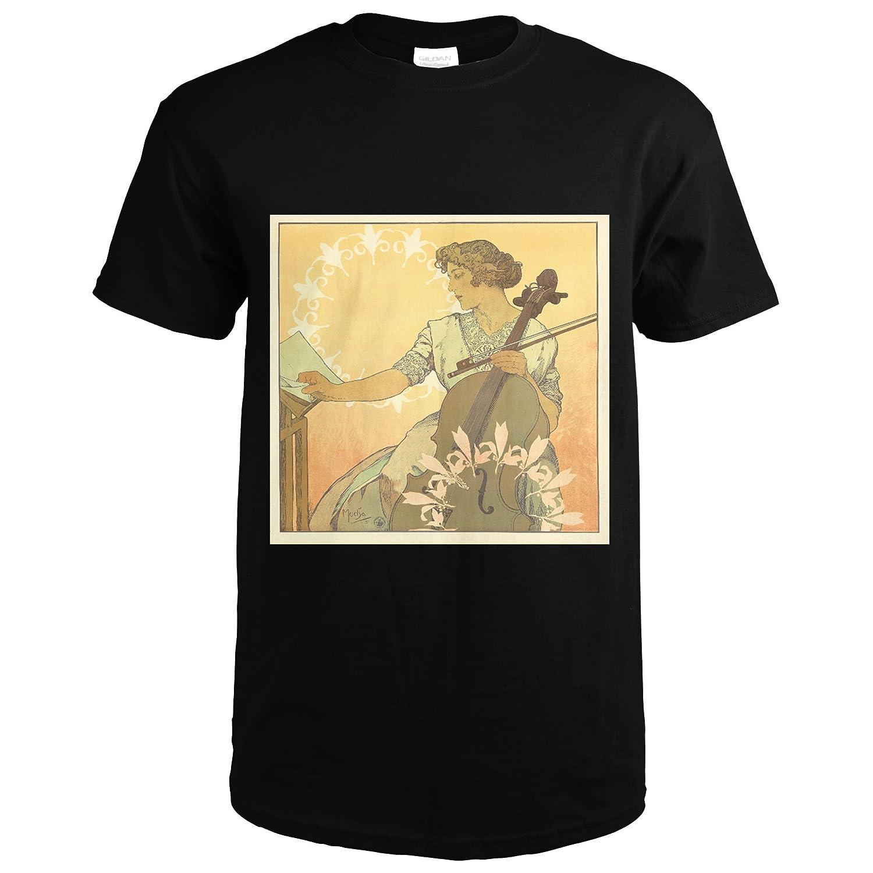 Amazon.com: Zdenka Cerny Vintage Poster (artist: Mucha) France c. 1913  (Premium T-Shirt): Clothing