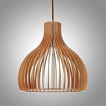 Retro Pendelleuchte Aus Holz Lndlich Hngelampe Pendellampe Hngeleuchte Vintage Lampenschirm Fr Esstisch Kche Wohnzimmer