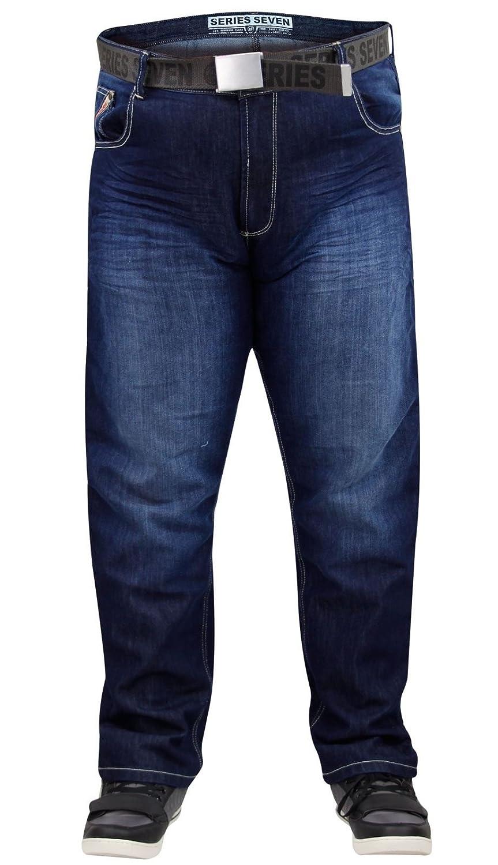 Neue Mens Designer 7 Hosen Serie Marke große Denim Jeans frei Gürtel  gerader Schnitt: Amazon.de: Bekleidung