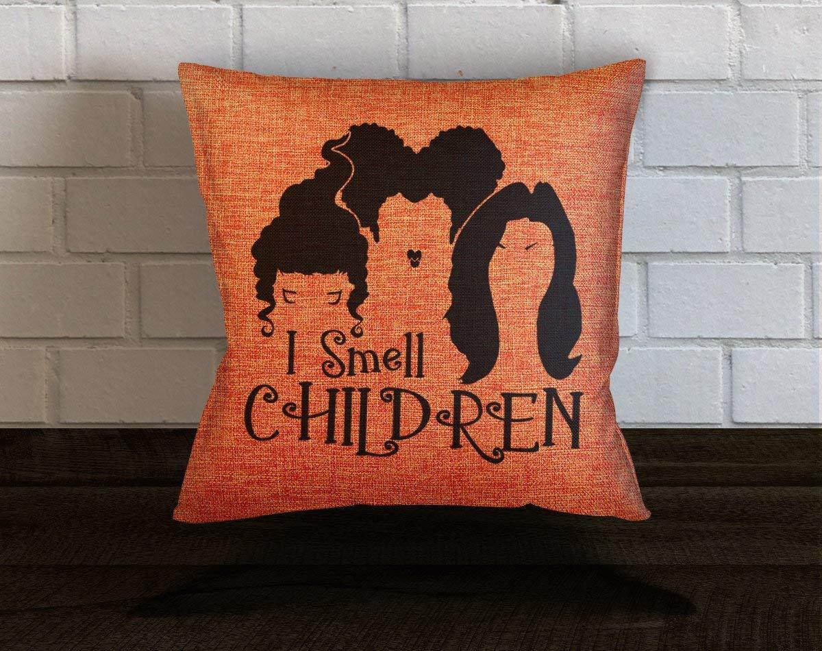 Penelope Hocus Pocus I Smell Children Throw Pillow Halloween Decor Sanderson Sisters Hocus Pocus Decor 18x18 Pillows Halloween Pillows