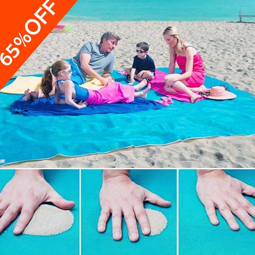 Telo Mare 200 x 200 cm Tappetino Antiscivolo spiaggia tappetino tappeto coperta da picnic-Gratuito A Prova Di Sabbia, Compatto, Morbido e Leggero Con Grandi Dimensioni Per La Spiaggia Estiva, Picnic home cl