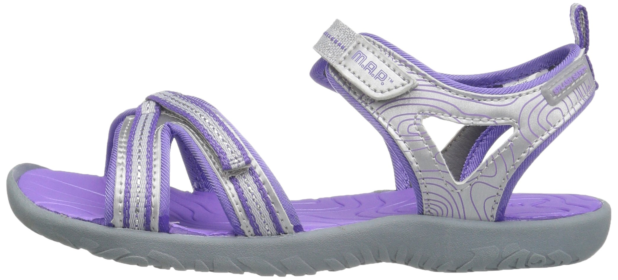 M.A.P. Lorna Girl's Outdoor Sandal, Silver/Purple, 2 M US Little Kid by M.A.P. (Image #5)