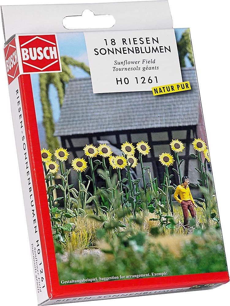 Busch Environnement - BUE1261 - Modélisme - Tournesols Géants Terrains