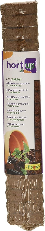Flower 55041 Tablet para semilleros compactado, 18 Pastillas