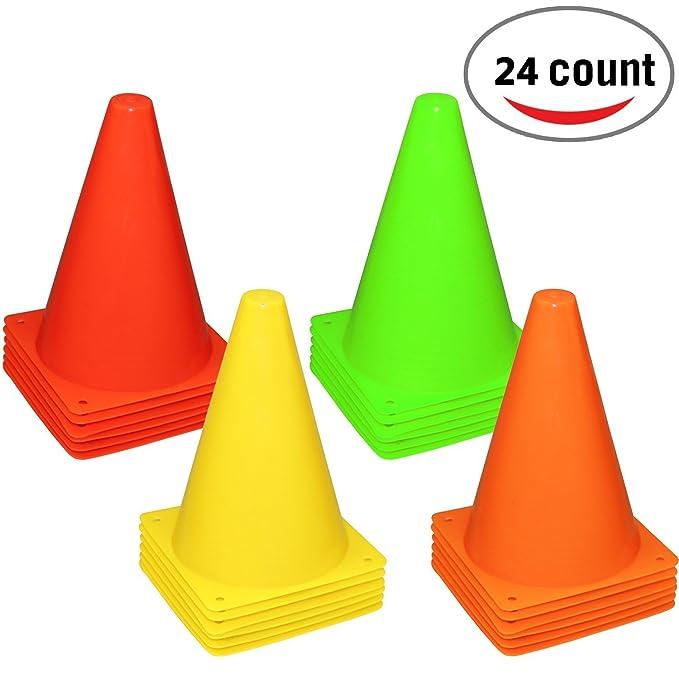 2 opinioni per Reehut, cono stradale in plastica da 19,1 cm per allenamenti sportivi, 4 Colors,