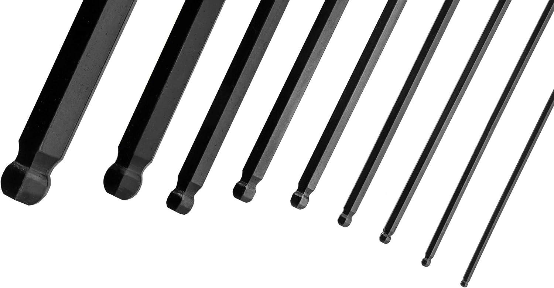 Winkelschl/üsselsatz Set 9 Teilig TOOLZILLA Innensechskantschl/üssel