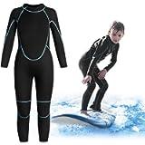 Greatever Kids Wetsuit 3mm Neoprene Thermal Swimsuit Long Sleeve UV Protection for Boys Girls Youth Child Junior…