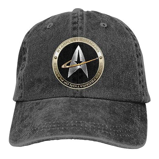 b2e63b9f3a637 Walter Margaret Hittings Neva Star Trek 50 Retro Adjustable Cowboy Denim Hat  Unisex Hip Hop Black