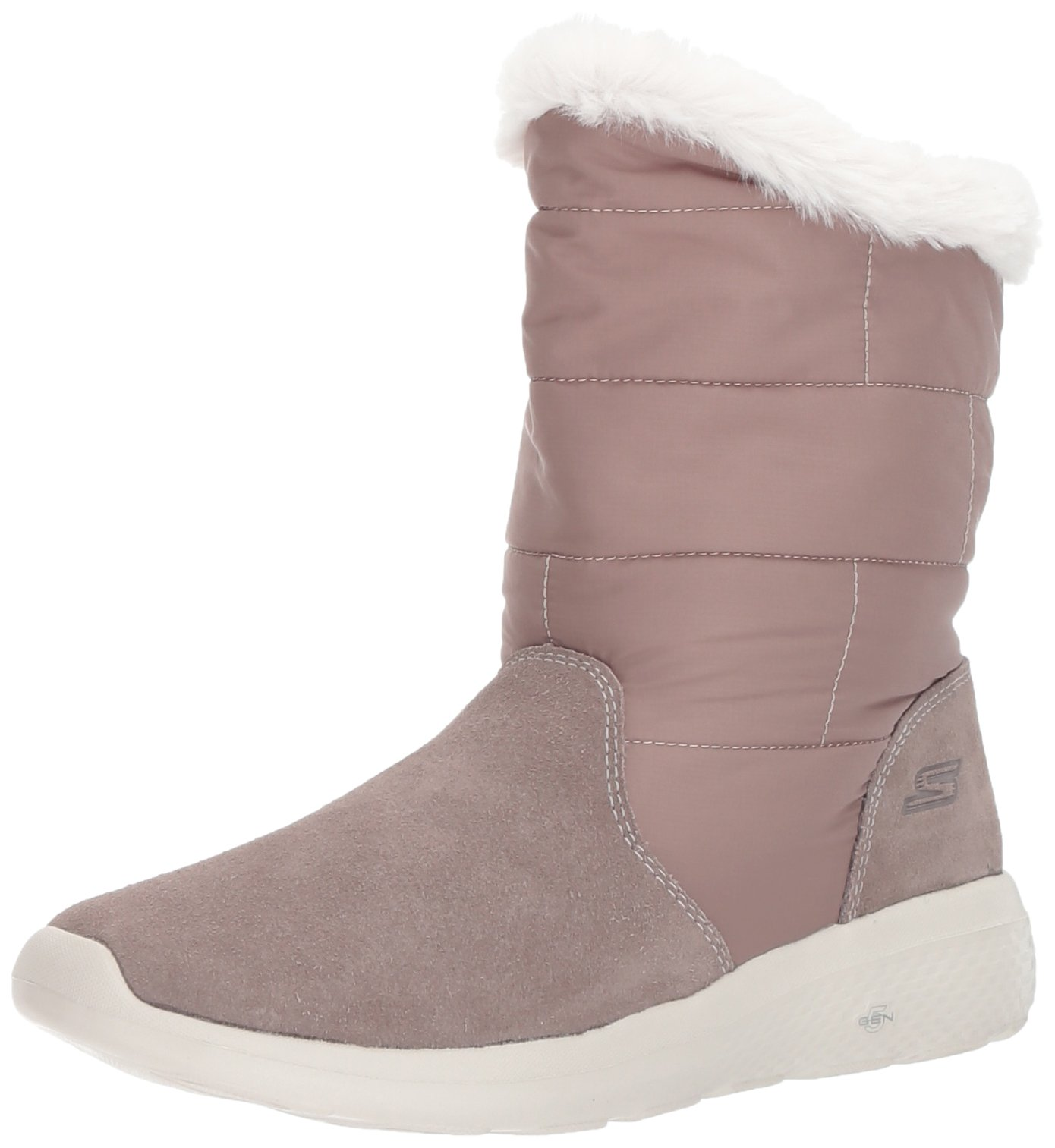 Skechers Performance Women's on-The-Go City 2-Puff Winter Boot,Taupe,7.5 M US