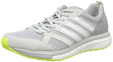 buy popular c0968 6ad22 adidas Womens Adizero Tempo 9 Competition Running Shoes, OneFootwear  WhiteGrey Two