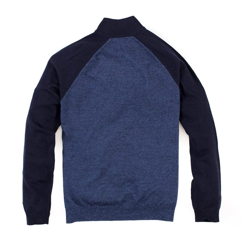 Tailor Vintage Mens Raglan 1//4 Zip Sweater Denim Marled//Navy 9619521-DMG
