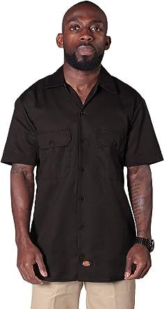 Dickies - Camisa de Trabajo con Manga Corta - Café Hombre Ropa de Trabajo DICKIES1574DB: Amazon.es: Ropa y accesorios