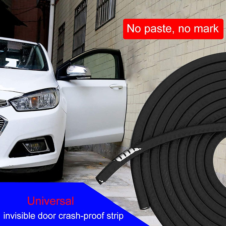 Black 10 Ft Car Door Edge Car Door Side Stickers Weatherstrip Protector Edge Trim PVC Rubber Material Anti-Collision Anti-Scratch Car Window Door Weatherstrip Seal Strip Car Door Seal Strip