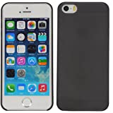 Cubix Translucent Series 0.3 MM Ultra Thin Matte Case Back Cover for Apple iPhone 5s (Black)