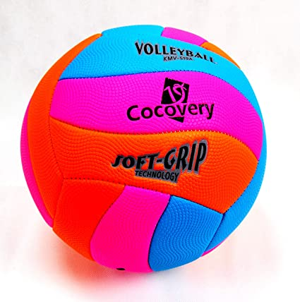 Cocovery19 Balón Voley-Playa Colores neón (Azul): Amazon.es ...