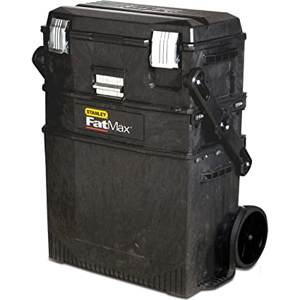 Advanced Stanley FatMax Rolling de pared en voladizo para taller caja de herramientas con ruedas negro