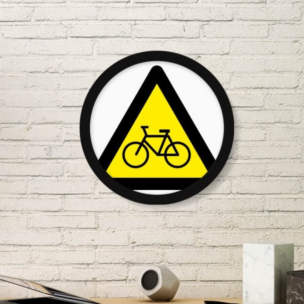 DIYthinker Símbolo de aviso amarillo de la bicicleta Muestra del ...