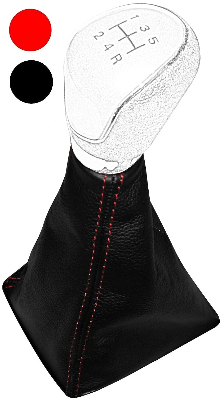 Schaltsack Schalthebelmanschetten Schalthebelmanschette Schaltbet/ätigungs Schwarze Farbe 100/% Leder Rot N/ähten Aerzetix