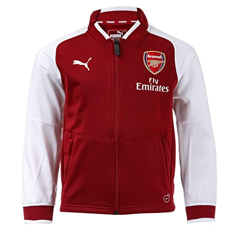cbc2411407e Image Unavailable. Image not available for. Color  PUMA 2017-2018 Arsenal  Stadium Jacket (Red Dahlia) ...