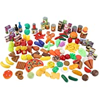 Allure Maek 120 Piece Super Market Grocery Play Food Assortment Toy Set for Kids