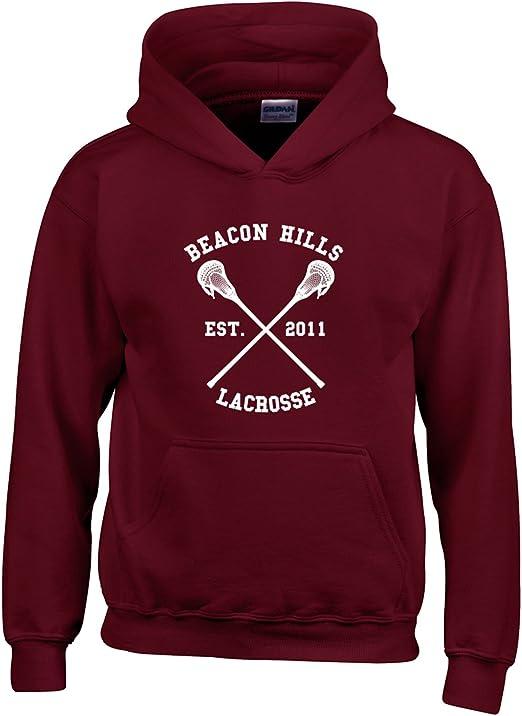 coil.c Lacrosse Hoodie Wolf 24 Teen Pullover F/ür P/ärchen Damen Kapuzenpullover Hoodie Teenager Rot M/ädchen Unisex Sweatshirt Herren