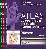Atlas de techniques articulaires ostéopathiques T1 à T3. PACK